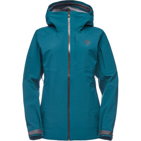 Black Diamond Recon Stretch Shell Regenjas Dames, spruce